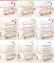2layers 3layers 4layers sundries fashion plastic storage rack/shelf for bathroom and kitchen