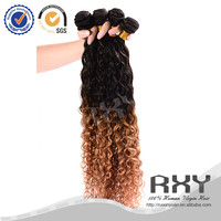 cheap short ombre colored two tone peruvian hair weave weft