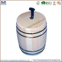 OEM design small decorative mini wooden barrels for coffee beans