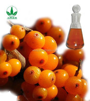 bulk seabuckthorn fruit oils with alibaba GMP certified chinese factory supply, 100% pure essential oil, plant oil