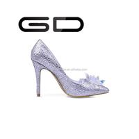 GD elegent fashion party gambar crystal stilettos sex dress popular high heel lady diamond shoes