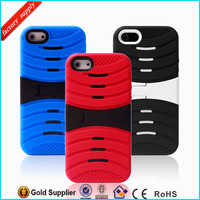 New Arrival Fashion Robot Pattern PC Silicon Hybrid Mobile Phone Case for iphone 5s 5g