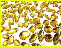 7x12mm,10.5x18mm Waterdrop Flatback Crystal Glass Stone, Sew on Chaton Glass Stone