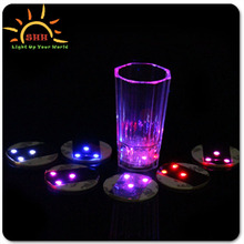 Beer Promotional LED Light Bottle Sticker ,New products LED Bottle coaster for party ,Christmas ,bars wedding party