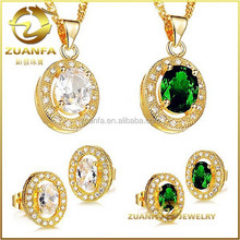 Fashion Cubic Zirconia 18K Gold Plated Wedding Jewelry Sets