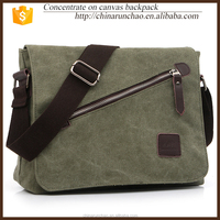 hot sale leisure messenger bags pu shoulder strap school bag