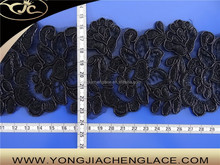 YJC70029 GuangZhou manufacturer saree border embroidered trim lace