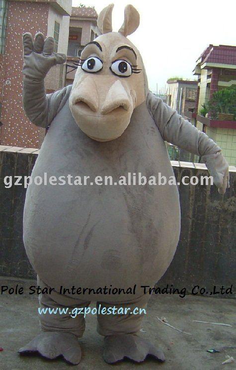 Hipopótamo del traje / del hipopótamo de la mascota