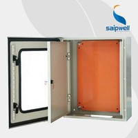 Saip/Saipwell CE IP65 400*300*150mm Customized metal electrical box with mid door