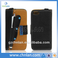 leather belt clip flip wallet case for iphone 4s with original design and card slots