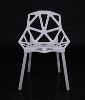Plastic seat metal leg garden Chair 1335