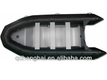 hot boat lifeboat 4.3m inflatable boat with aluminum floor 8 person boat