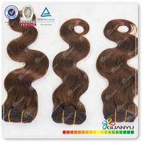 Grade 6a chocolate hair products,100% human indian virgin gray remy hair