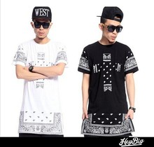Wholesale Fashion White Men's 100% Cotton Custom Print T-shirt
