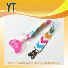 Rianbow Baby Binky Clip Pacifier Holder, Zig Zag Clip Colourful Chevron & Teddy Bear Clip, Baby Girl or Boy Infant Gift Idea