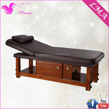 2015 beauty salon wooden facial massage bed massage table with storage