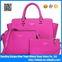 China wholesale fancy PU leather cheap women handle bag crossbody bag tote bags set women handbags set for lady