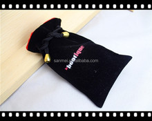 2015 new sale velvet jewelry pouch & black velvet bag