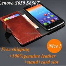 Factory Wholesale Flip Leather Mobile Phone Case for Lenovo S650 S650T