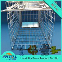 2015 stainless steel wire mesh live animal cage traps