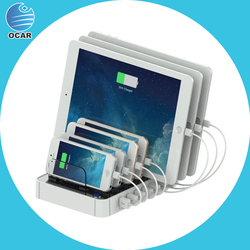 Factory universal portable mobile power bank, 7 port usb charger with customized logo
