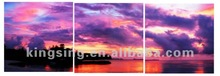 Colourful sky seascape oil paintings