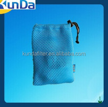 sandwich mesh polyester drawstring bag