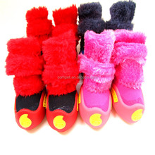 Factory Direct Sell Teddy Puppy Fall Winter Warm Waterproof Dog Boots Pet Shoes