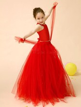 2015 Red dress for 7 years children girl latin dance dress,children girl latin dance dress,vintage lace flower girl dr