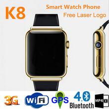 Waterproof WIFI Passomoter SIM dual core 3g smart watch mobile phone