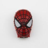 Metal spider man shape usb pendrive flash drive with led light