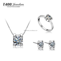 2016 wedding jewelry T400 925 sterling silver Necklace/Earrings/Ring,made with Swarovski Zirconia Bridal Jewelry Sets #S018