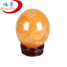 Best quality Top sale factory price Rare Natural yellow BALL yellow crystal ball wholesale Crystal Sphere for gift