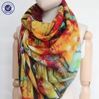 2015 Modern Painting wool scarf digital shawl SWW841 handmade plain color wool scarf wholesale