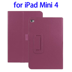 Paypal acceptable 2 Folding Litchi Texture tablet cover for ipad mini 4