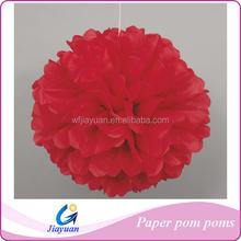 Red tissue paper poms // wedding decorations // diy // nursery decor // birthday // party