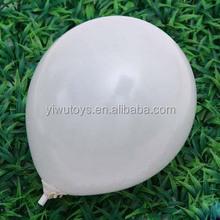 air party decoration bulk white color latex ballon metallic