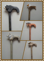 Wooden hand crafted decorative walking canes