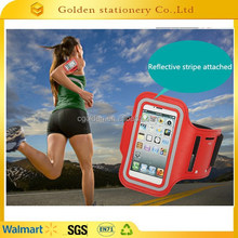 mobile phone arm bag sports running arm bag with reflective strip