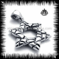 Stainless steel six-pointed star pendant for men