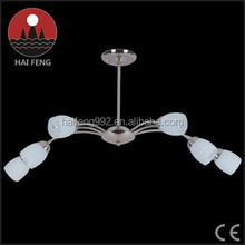 simple design and elegant style glass chandelier/ white glass family pendant lighting
