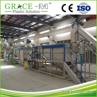 China TOP Brand PET bottle to flake recycling and processing line CE Standard