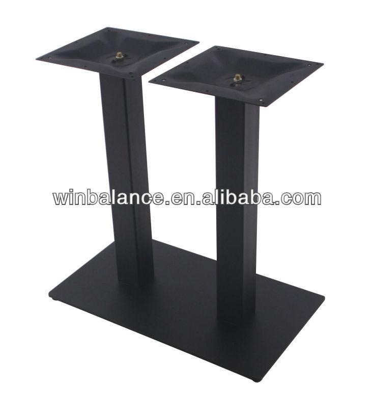 Texture black powder steel square metal table legs buy square metal