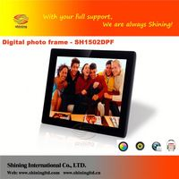 SH1502DPF 15 inch digital frame download music mp4