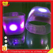 Flashing Party Toys Led Plastic bracelet Glow Stick concert party favor led lighting bracelet OEM plastic bracelet