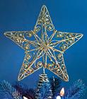 2015 nova decorativo Metal ouro de natal Star árvore Topper