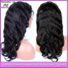 Wholesale top quality china import human hair clip in hair half wig