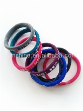 Durable elastic hair bands , hair bands with one color printing , hair ornament