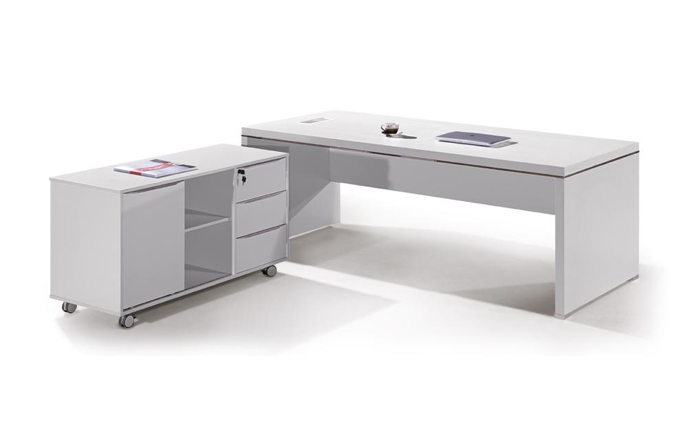 Cf 2014 oficina director blanco escritorio escritorio for Escritorio moderno blanco