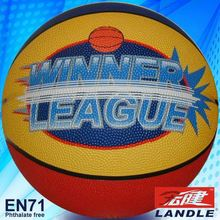 good new official size new style rubber made brilliant rubber basketball